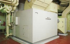 津市庁舎空調機械室